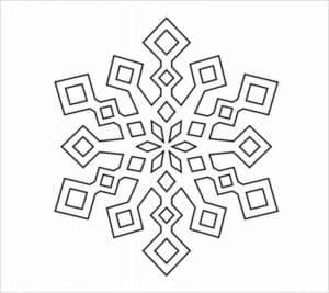 снежинка с ромбиками трафарет