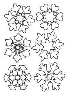 снежинки для вырезания