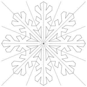 красивая снежинка трафарет