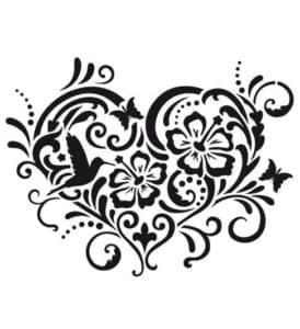 сердце узоры