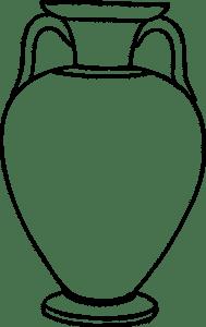 ваза трафарет для вырезания