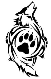 волк в узорах