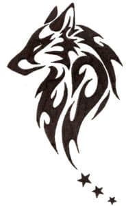 волк с узорами трафарет для вырезания