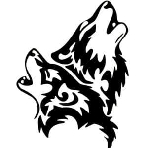 Трафареты и силуэты волка