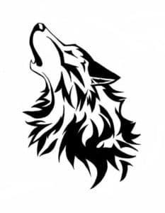 морда волка трафарет для вырезания и раскраски