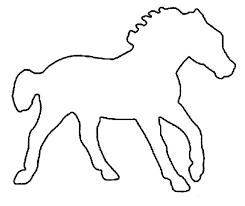 трафарет лошадка