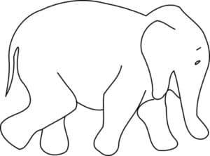 трафарет слон