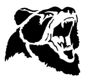морда медведя трафарет