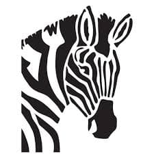 зебра трафарет