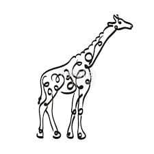 жираф трафарет