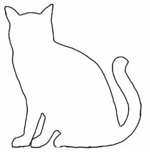 кошка трафарет шаблон