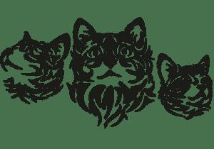 котята трафарет