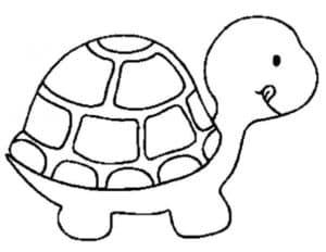 черепаха трафарет