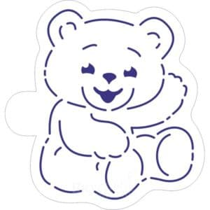 медвежонок для вырезания