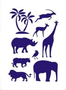 трафарет животные