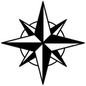 звезда в круге трафарет