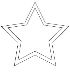 одиночная звезда трафарет