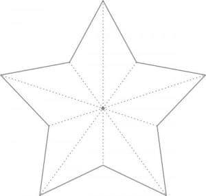 звезда пятиконечная трафарет
