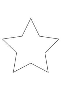 большая звезда для вырезания и раскраски