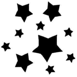 много звезд для вырезания