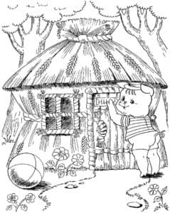 соломенный домик поросенка
