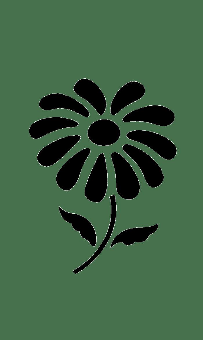Трафарет и шаблон Цветов