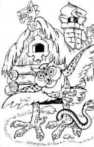 сова и избушка на курьих ножках