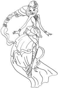 гармоникс раскраска для девочек