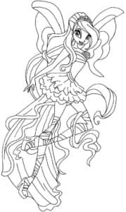 фея гармоникс раскраска