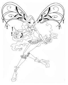 картинка раскраска фея лейла