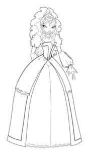 раскраска винкс принцесса