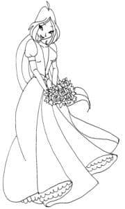 красивая раскраска принцесса