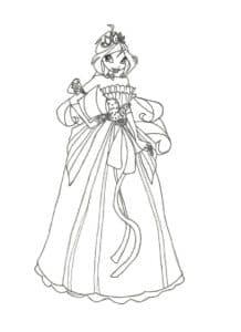 раскраска для девочек принцесса