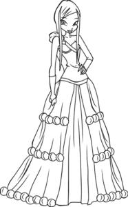 принцесса в шикарном платье
