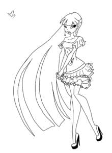 принцесса винкс в коротком платье