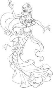 раскраска русалка для ребенка