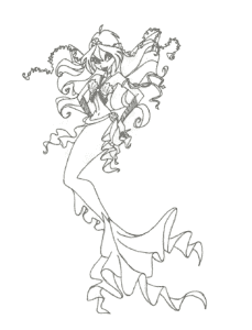 Русалка с роскошным хвостом