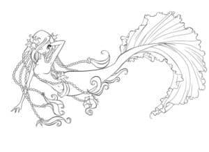 шикарная раскраска русалка