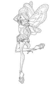 раска для детей фея