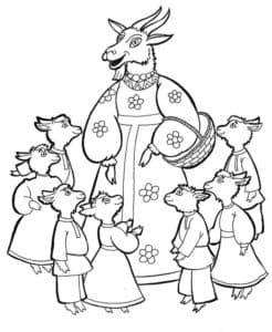 коза спасла козлят