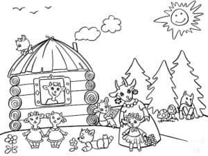 домик семерых козлят