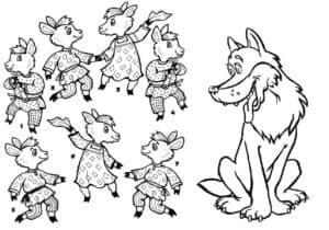 серый волк и козлята