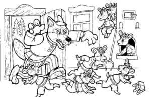 злой волк и семеро козлят