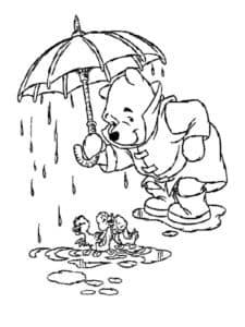 винних пух под зонтом