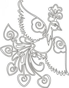 жар птица раскраска