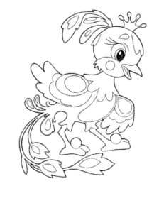 цыпленок с короной