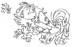 жар птица и цветы