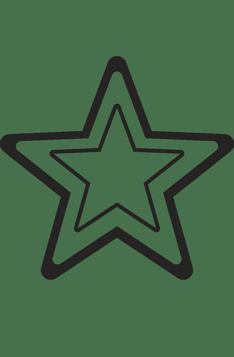 Трафарет и шаблон Звезды