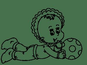 кукла пупсик раскраска