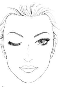 распечатать раскраски макияж лица